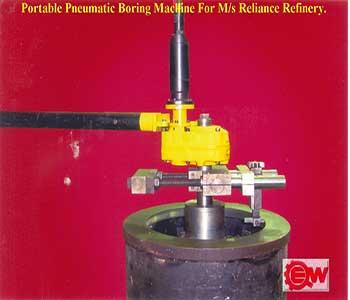 Portable Pneumatic Boring Machine